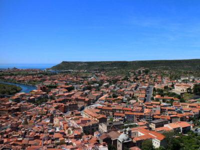 Panorama di Bosa dal Castello Malaspina