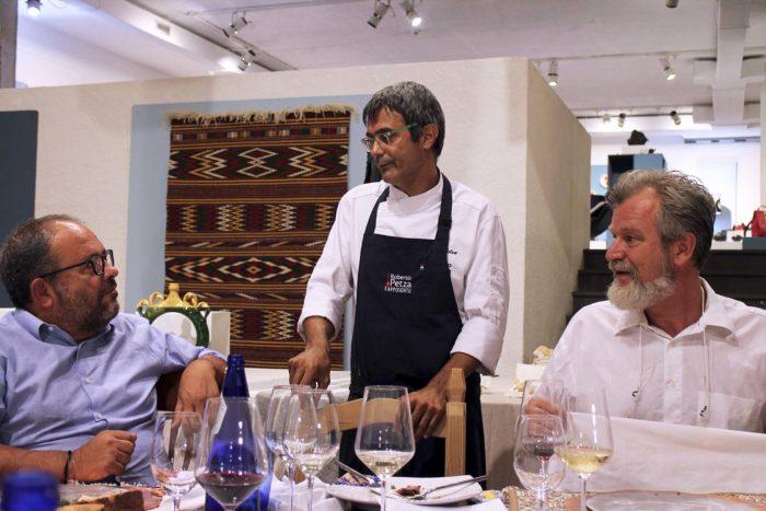 Roberto Petza alla Fiera dell'artigianato artistico della Sardegna di Mogoro